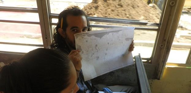 Mapeando una ruta en Managua con papel y lapiz