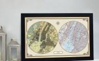 US Duo Century Map - New York