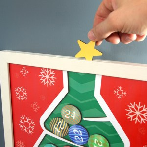 Wooden Christmas Tree Advent Calendar