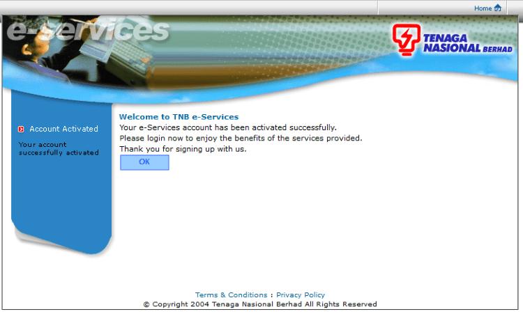 Register TNB Bill step 5