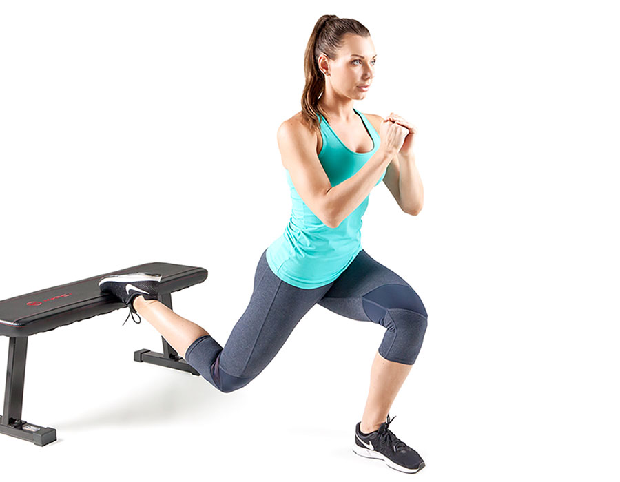 Marcy SB-315 Utility Workout Bench Dumbbell Exercises in use by Model
