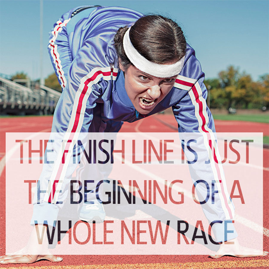 Workout motivation quotes for better fitness Finish Line is Just the beginning of a whole new race