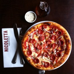 Weekly Pizza Lunch: The Calabrese pie at Nicoletta