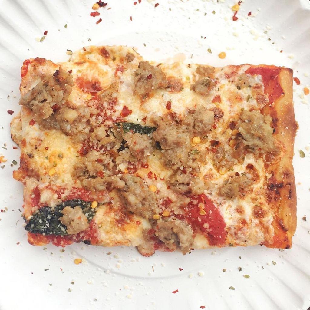 Corner Slice Sausage Pizza