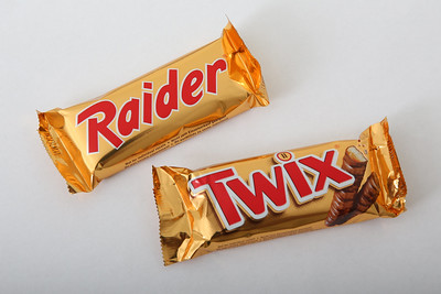 Packaging Twix et Raider - Photo de Tim Reckmann