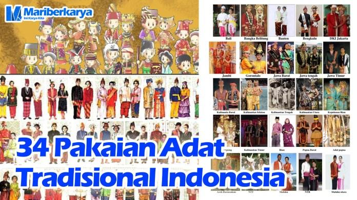34 Pakaian Adat Tradisional Indonesia Blog Mariberkarya