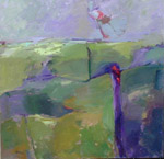 """Painting by Cheryl McClure """"Little Pieces of Land IX"""" acrylic on canvas 36 x 36"""""""