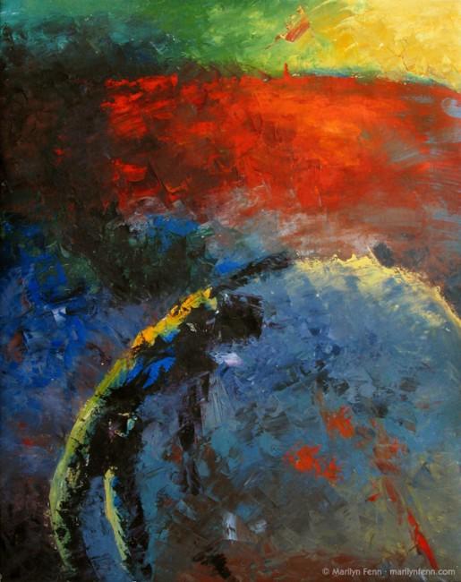 """""""Abstract #10"""" Oil and wax medium on canvas 30"""" x 24"""" © 1992 Marilyn Fenn"""