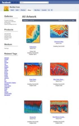Fine Art America Shop on Facebook Page