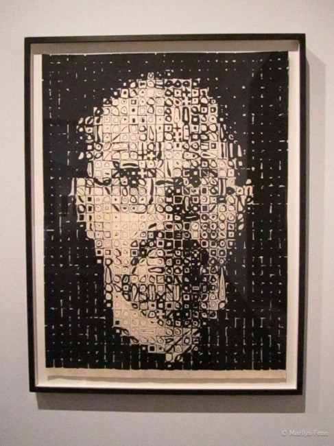 Chuck Close Self-Portrait, 1999 Relief etching