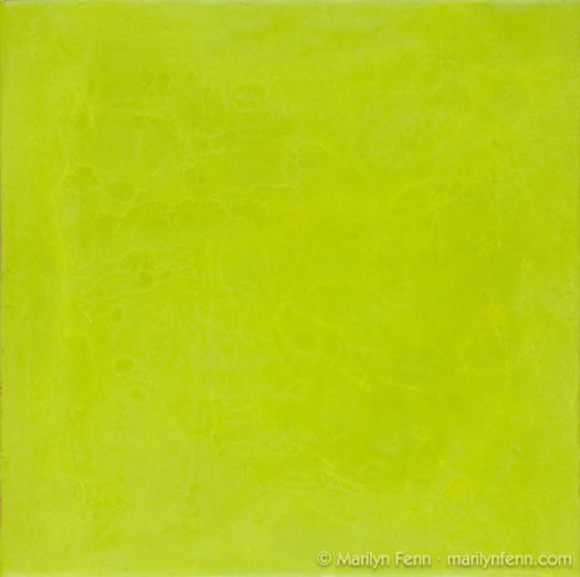 """Lime"" Encaustic on Panel 10"" x 10"" © 2009 Marilyn Fenn"