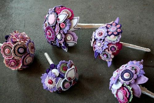 bouquet da sposa feltro princess-lasertron