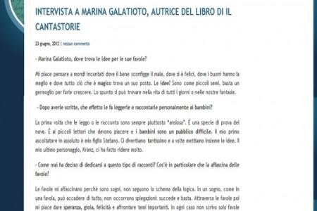 intervista marina galatioto il cantastorie