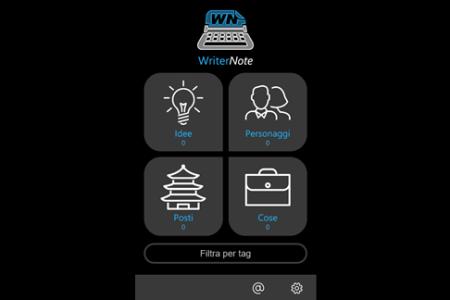 WriterNote App Gratis per scrittori