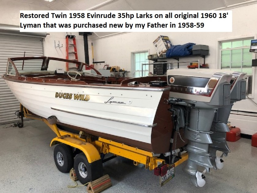 1958_Evinrude_Larks_mounted