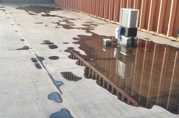 застояла вода на покрив
