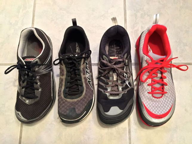 Comparison of the Original Instinct, 1.5, 2.0 and Altra Instinct 3.0