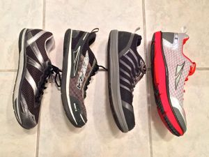Profile Comparison of the Original Instinct, 1.5, 2.0 and Altra Instinct 3.0