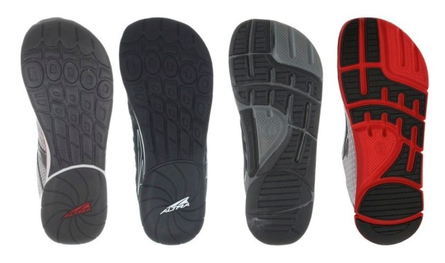 Comparing the soles of the Original Instinct, 1.5, 2.0 and Altra Instinct 3.0