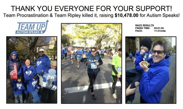 2014 NEW YORK MARATHON FUNDRAISER RESULTS