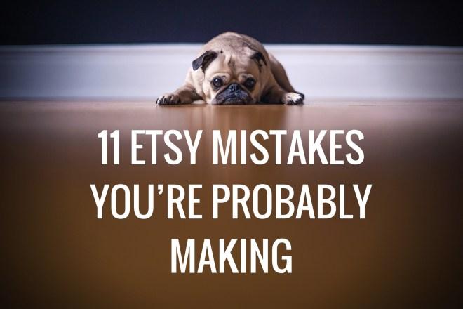 etsy mistakes