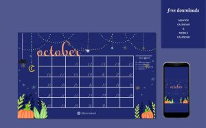 October free desktop calendar marmalead