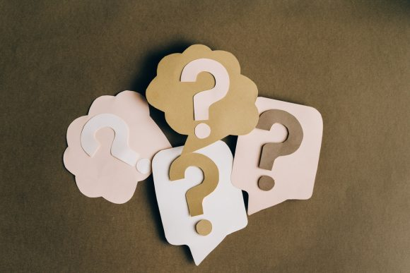 cutout of question marks