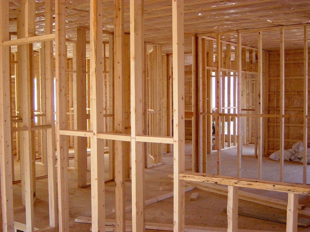 new construction home in erie pa being built