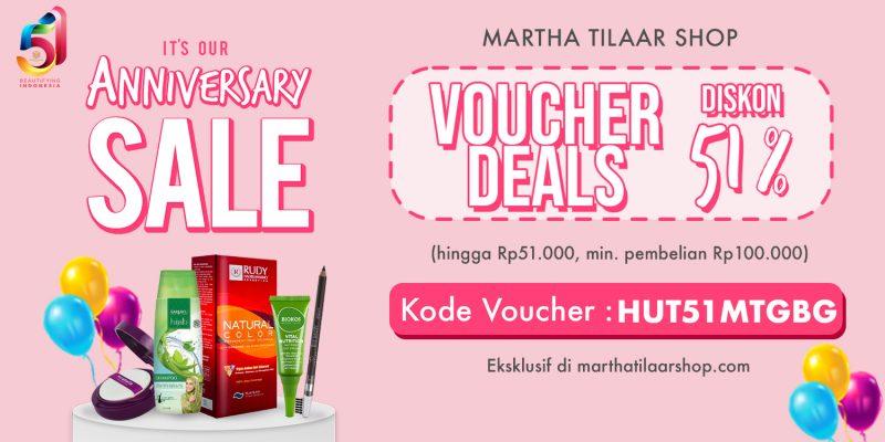 Promo Ulang Tahun Martha Tilaar Diskon 51%