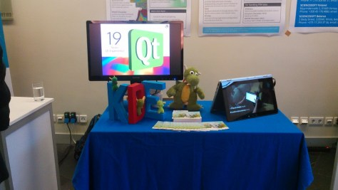 KDE's booth at QtWorldSummit