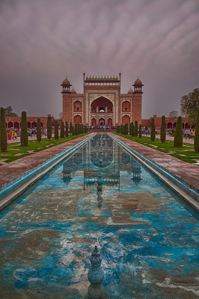 Taj Mahal Great Gate Reflection