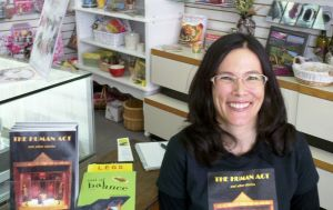 Angela Lam Turpin at her book signing, 2013