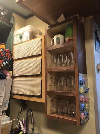 グラス棚を自作する