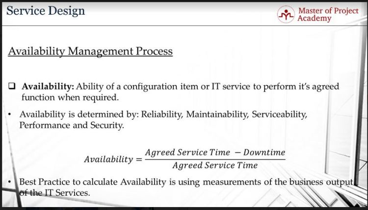 availablity management