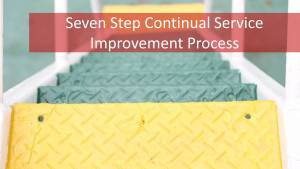 7 Steps to Continuous Improvement of IT Services