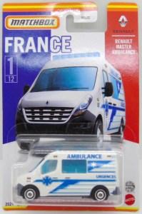 Matchbox MB885 : Renault Master Ambulance (France Collection)