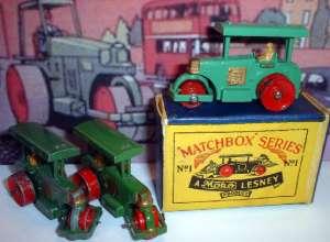 Matchbox 01A Road Roller variants