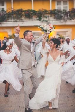 Cartagena wedding destination bride and groom