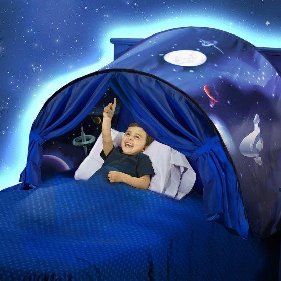 خيمة الأحلام للأطفال يمكن تركيبها على السرير بسهولة