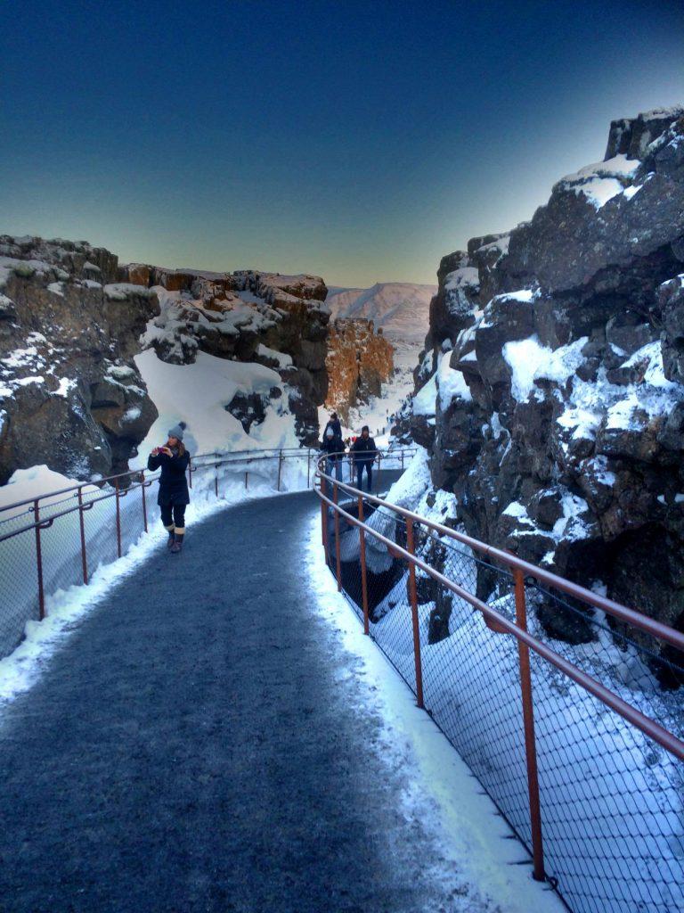 Þingvellirin kansallispuistoa.