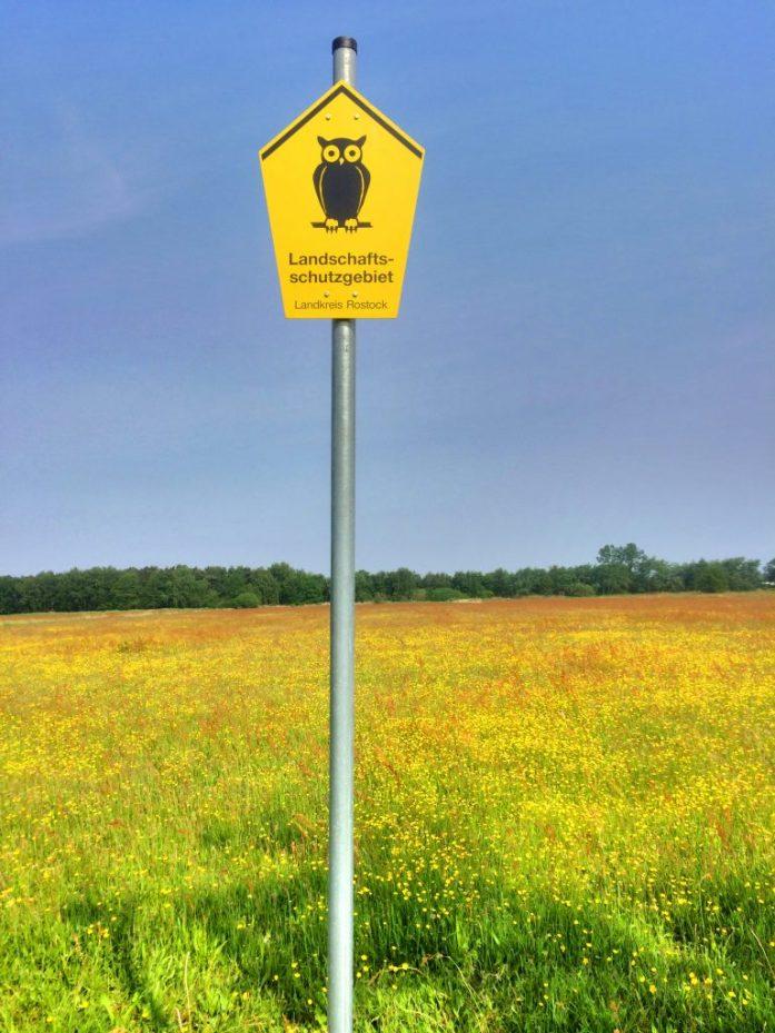 Stellplaz sijaitsi luonnonsuojelualueen rajalla.