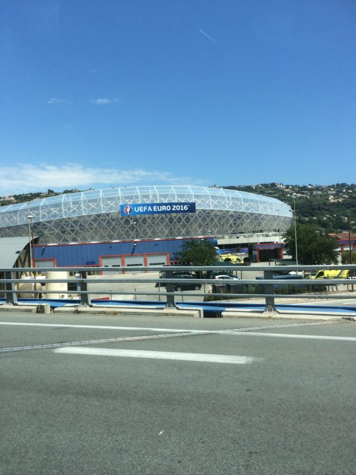 Vilaus Allianz Riviera:n stadionista Nizzassa.