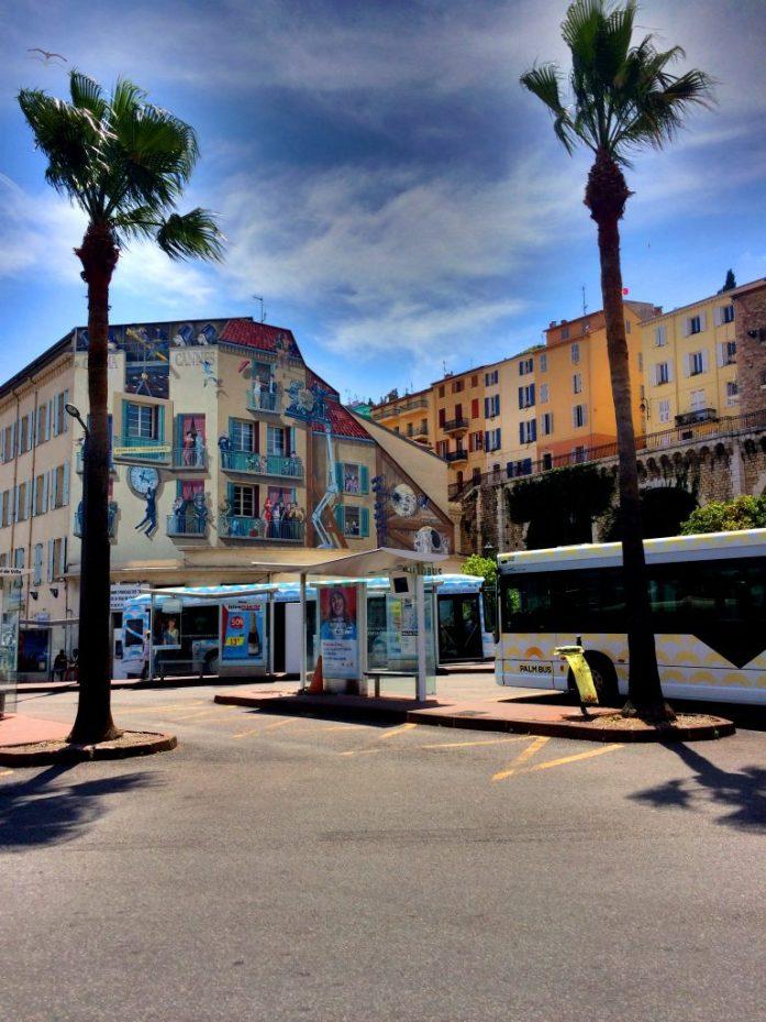 Cannesin keskustaa.