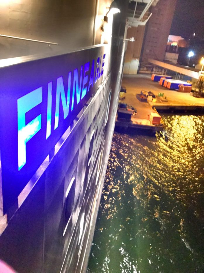 Tulimme Naantalista Kapellskäriin Finnlinesin Finneagle rahtilaivalla.