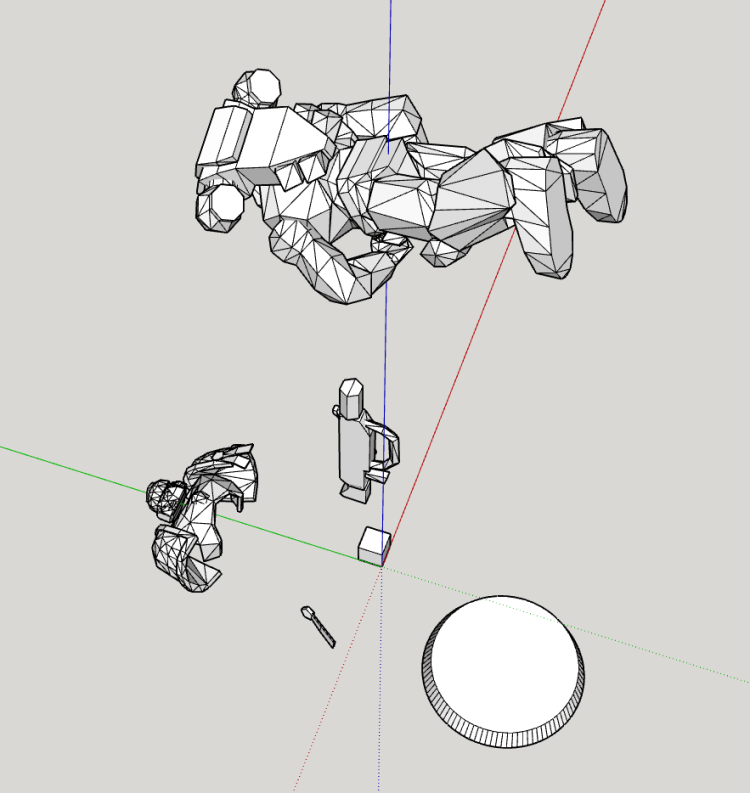 SketchUp Alle Meshes