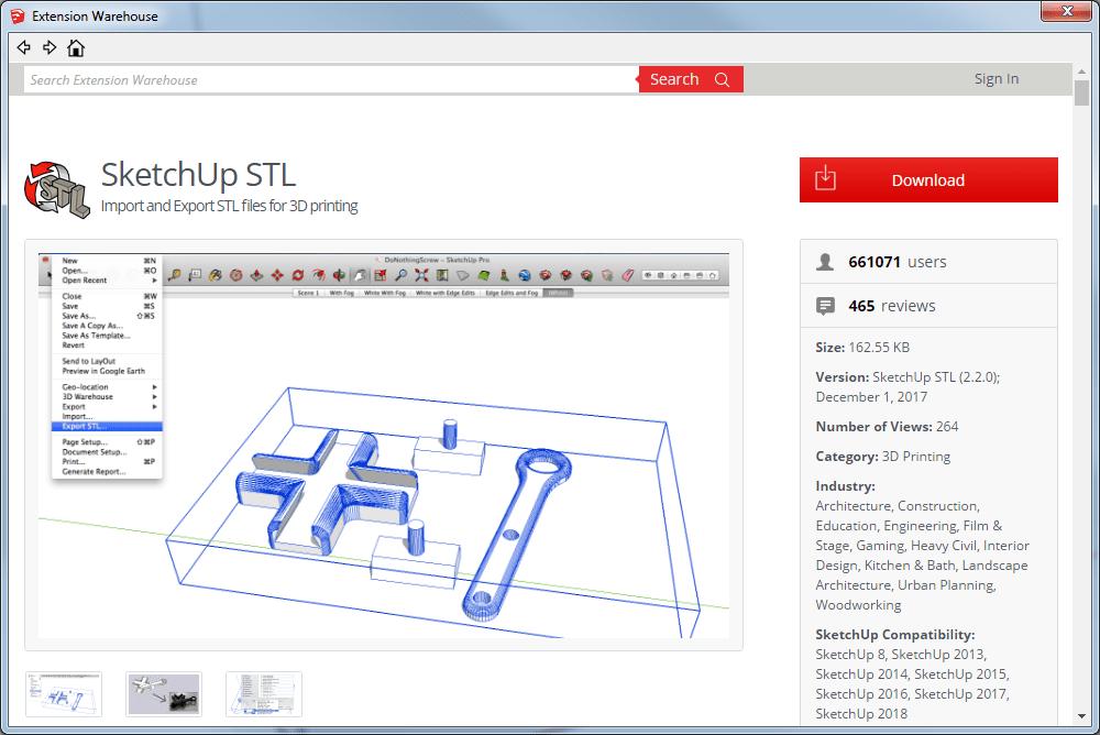 SketchUp STL Export