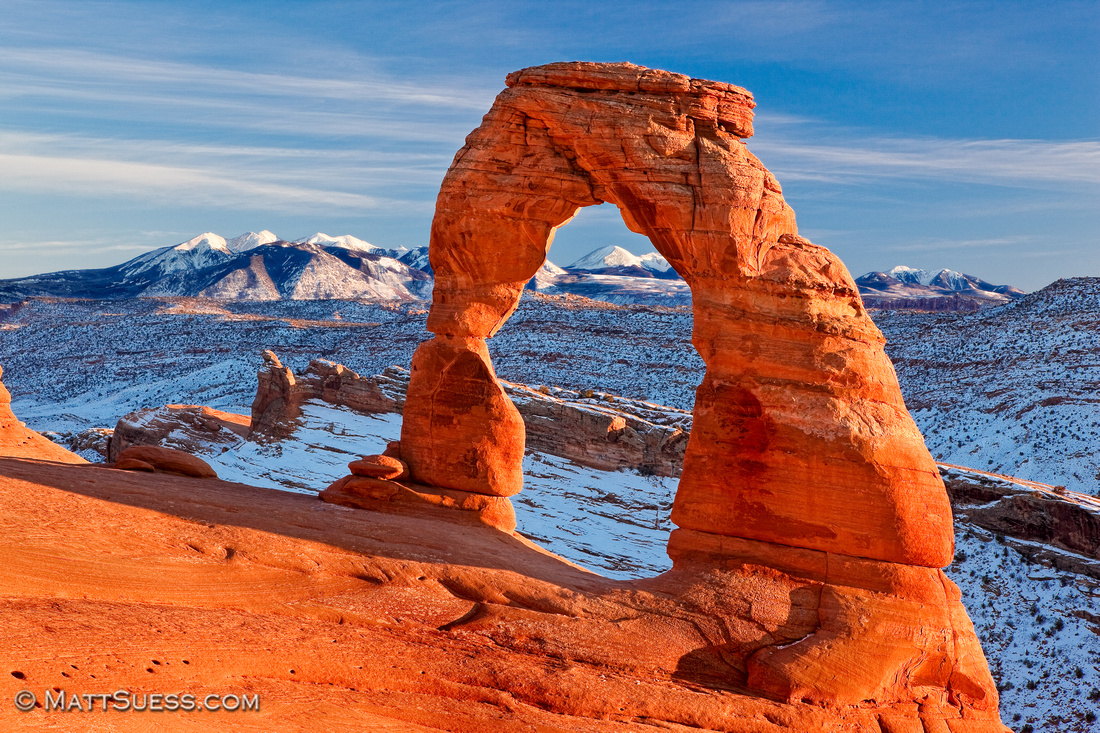 Winter Sunset at Delicate Arch