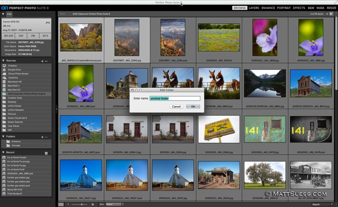 The Browse module of Perfect Photo Suite 8