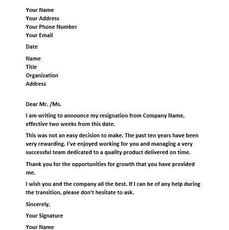 Contoh Surat Berhenti Kerja Notis Dua Minggu Download Kumpulan Gambar