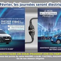 Le mois de l'électrique Peugeot : Offre sur la Peugeot iOn et Partner Electric